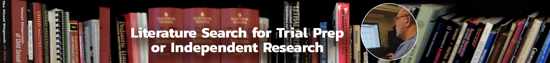 Literature search for trial prep or research